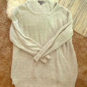 Oversized gray sweater